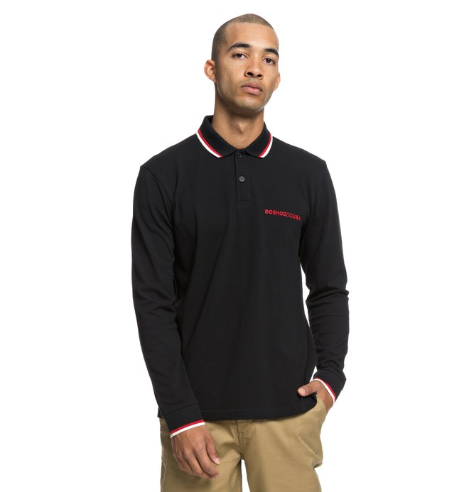 0 Lakebay Long Sleeve Polo Shirt Black EDYKT03428 DC Shoes