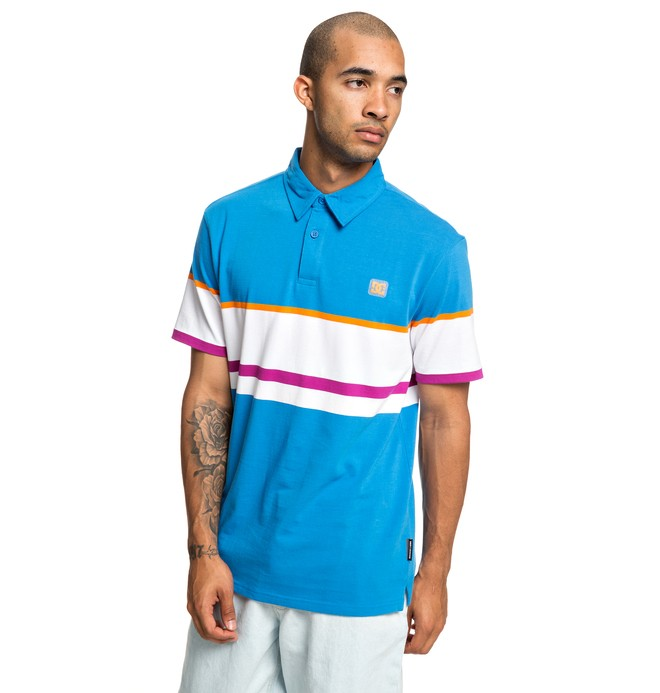 0 Granline Short Sleeve Polo Shirt Blue EDYKT03439 DC Shoes