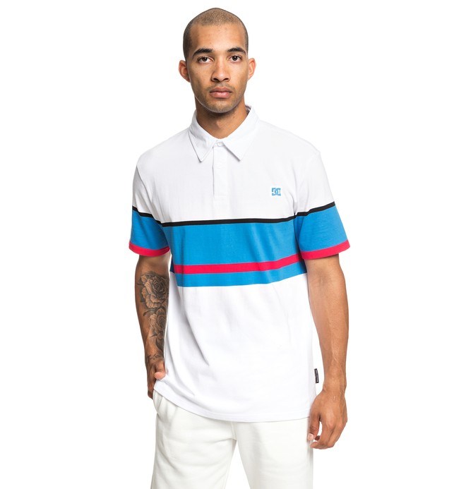 0 Granline Short Sleeve Polo Shirt White EDYKT03439 DC Shoes