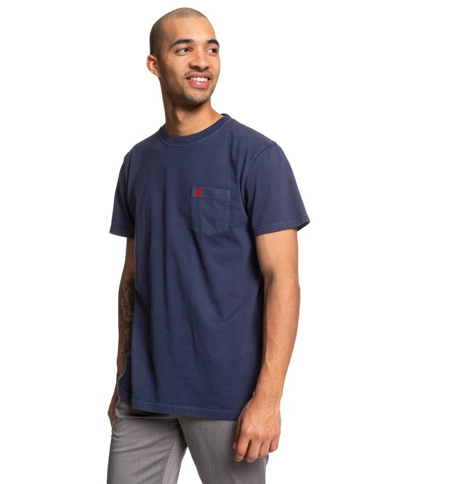 0 Dyed Pocket Tee Blue EDYKT03442 DC Shoes