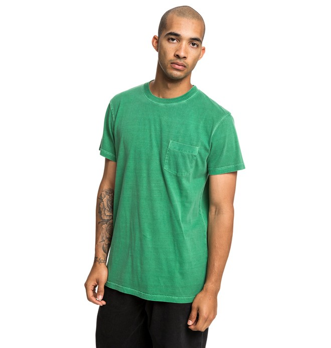 0 Dyed Pocket Tee Green EDYKT03442 DC Shoes