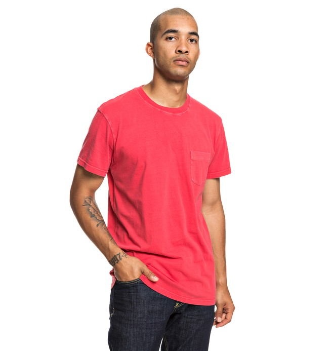0 Dyed Pocket Tee Red EDYKT03442 DC Shoes