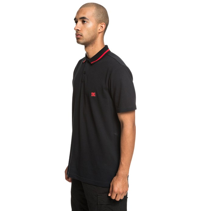 0 New Lakebay Short Sleeve Polo Shirt Black EDYKT03456 DC Shoes