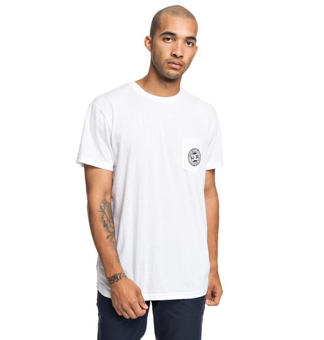 0 Basic - T-Shirt for Men White EDYKT03458 DC Shoes