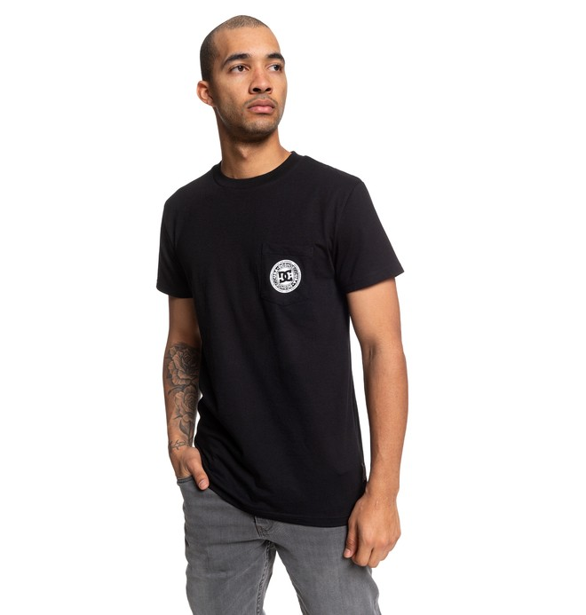 0 Basic Pocket Tee Black EDYKT03463 DC Shoes