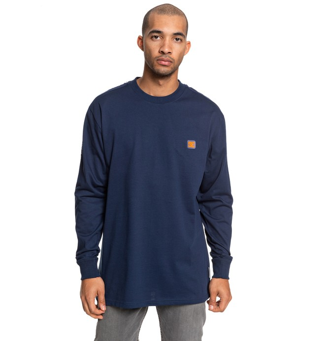 0 Elkins - Long Sleeve T-Shirt Blue EDYKT03467 DC Shoes