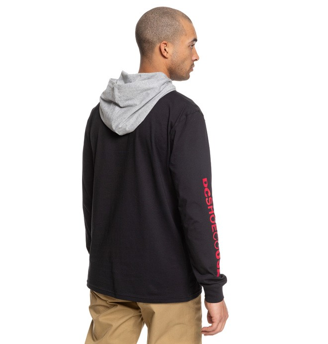 Rellin - Long Sleeve Hooded Top for Men  EDYKT03468