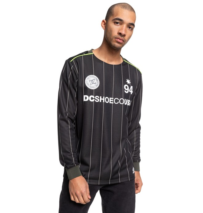 0 Emmonsdale - Long Sleeve Football Jersey for Men Black EDYKT03470 DC Shoes