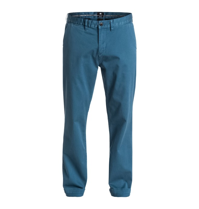 """0 Men's Worker Straight Fit Chino 32"""" Pants  EDYNP03075 DC Shoes"""