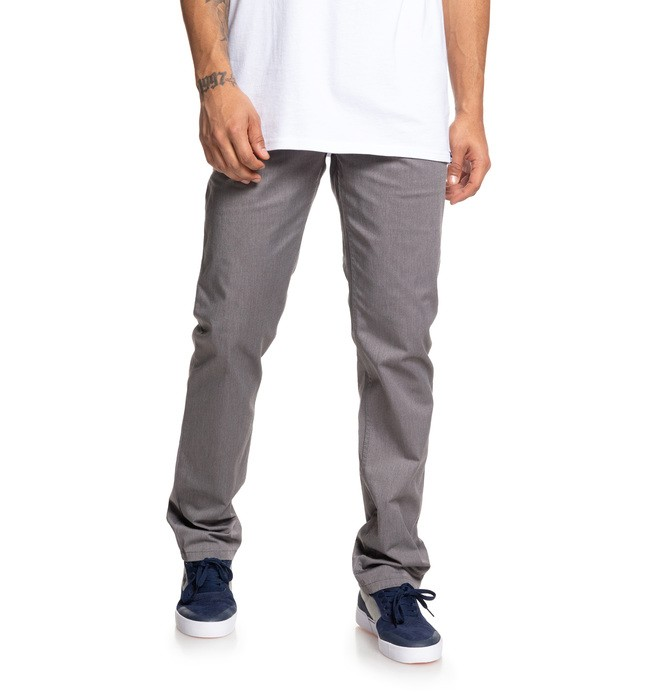 0 Worker Heather Straight Fit Chinos Black EDYNP03133 DC Shoes