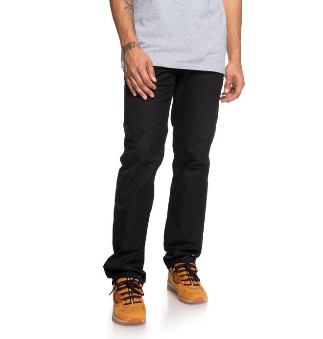 0 Pantalones de Mezclilla Rectos Worker Negro EDYNP03136 DC Shoes