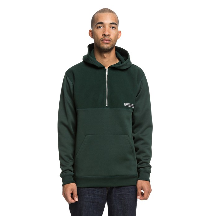 0 Eaglemount - Half-Zip Hoodie for Men Green EDYPF03025 DC Shoes