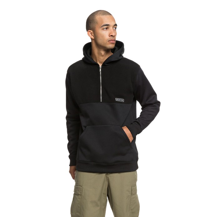 0 Eaglemount Half Zip Hoodie Black EDYPF03025 DC Shoes