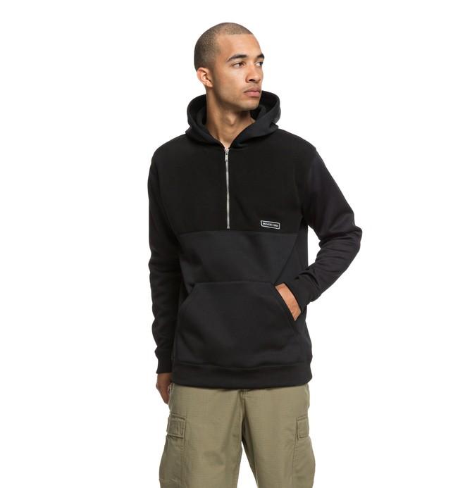 0 Eaglemount - Sudadera con cremallera hasta media altura y capucha para Hombre Negro EDYPF03025 DC Shoes