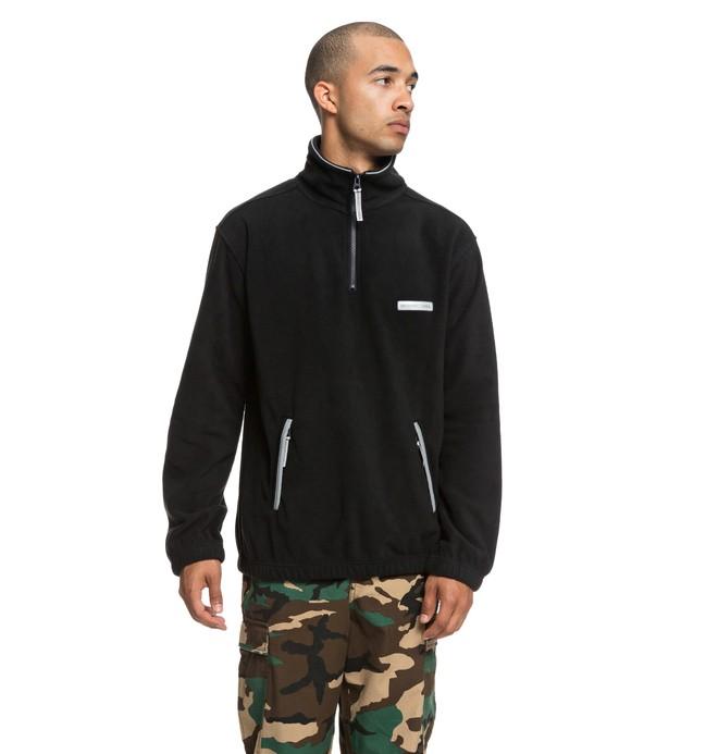 0 Gladeview Mock - Sudadera con cremallera hasta media altura y cuello alto para Hombre Negro EDYPF03027 DC Shoes