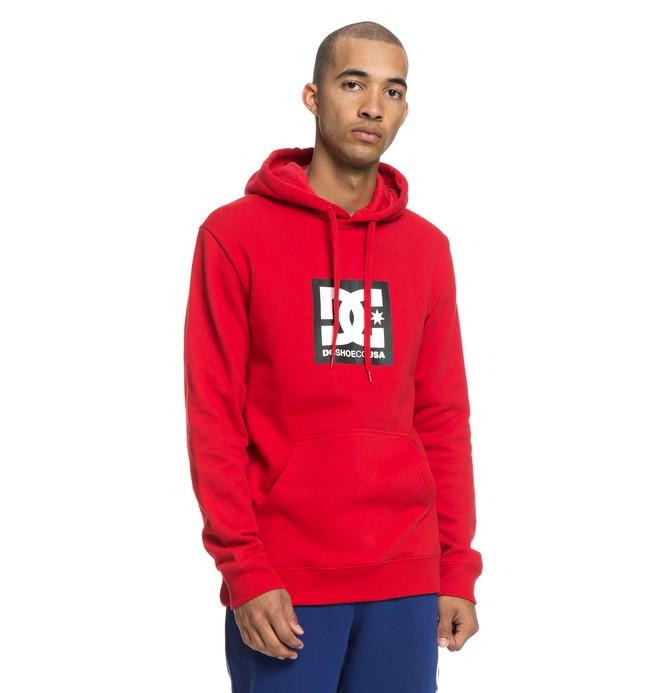 0 Square Star - Sudadera con capucha para Hombre Rojo EDYSF03167 DC Shoes