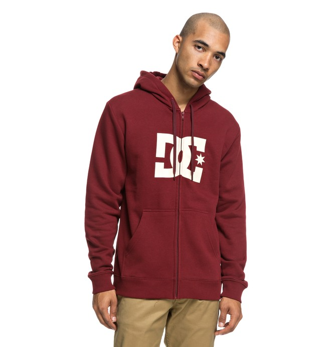0 Star - Zip-Up Hoodie for Men Red EDYSF03173 DC Shoes