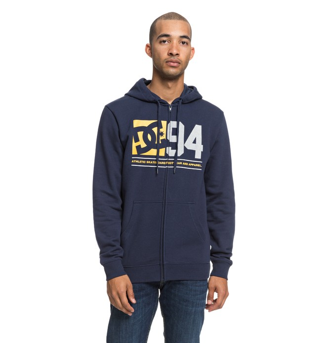 0 Player Seven Zip-Up Hoodie Blue EDYSF03176 DC Shoes