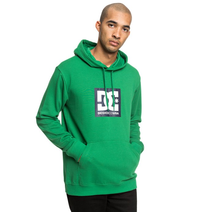 cafa2a3ae060 0 Square Star Hoodie Green EDYSF03184 DC Shoes