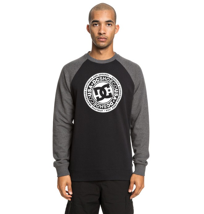 0 Circle Star - Sweat pour Homme Noir EDYSF03198 DC Shoes