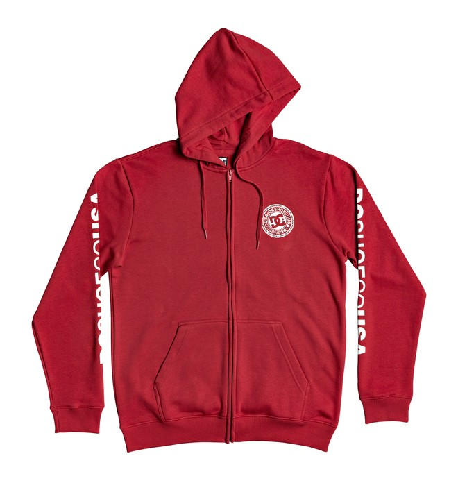 0 Circle Star - Zip-Up Hoodie Red EDYSF03216 DC Shoes