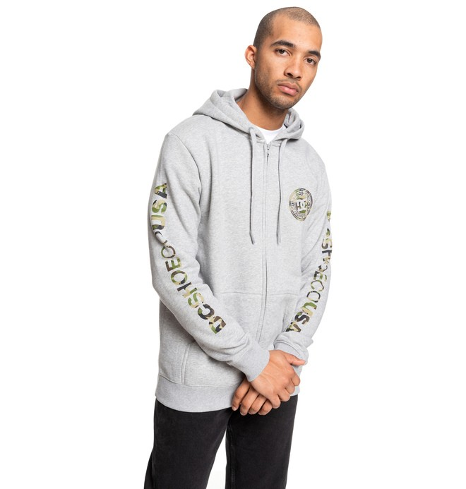 0 Circle Star - Sweat à capuche zippé pour Homme Gris EDYSF03216 DC Shoes