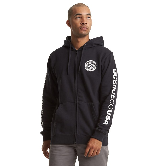 0 Circle Star - Sweat à capuche zippé pour Homme Bleu EDYSF03216 DC Shoes