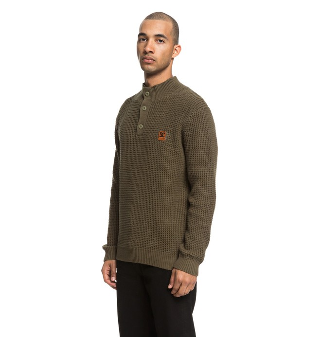 0 Bell Shaw - Pull col rond pour Homme Vert EDYSW03033 DC Shoes