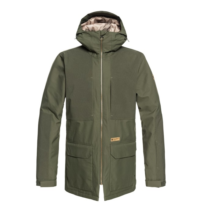 0 Summit - Parka de snow pour Homme Vert EDYTJ03068 DC Shoes