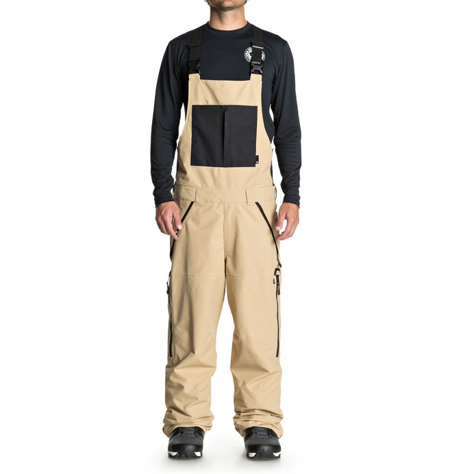 0 DC Shoes - Shell Snow Bib Pants for Men Brown EDYTP03030 DC Shoes