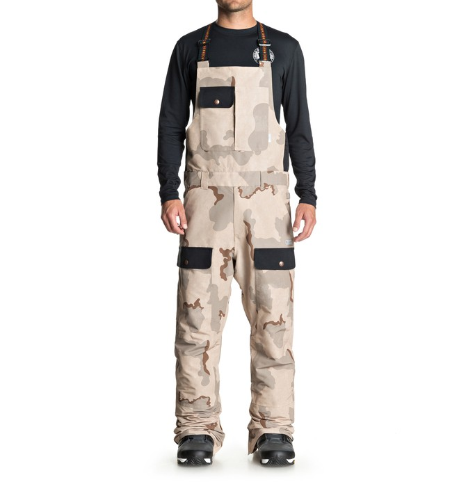 0 Platoon Snow Bib Pants Brown EDYTP03031 DC Shoes