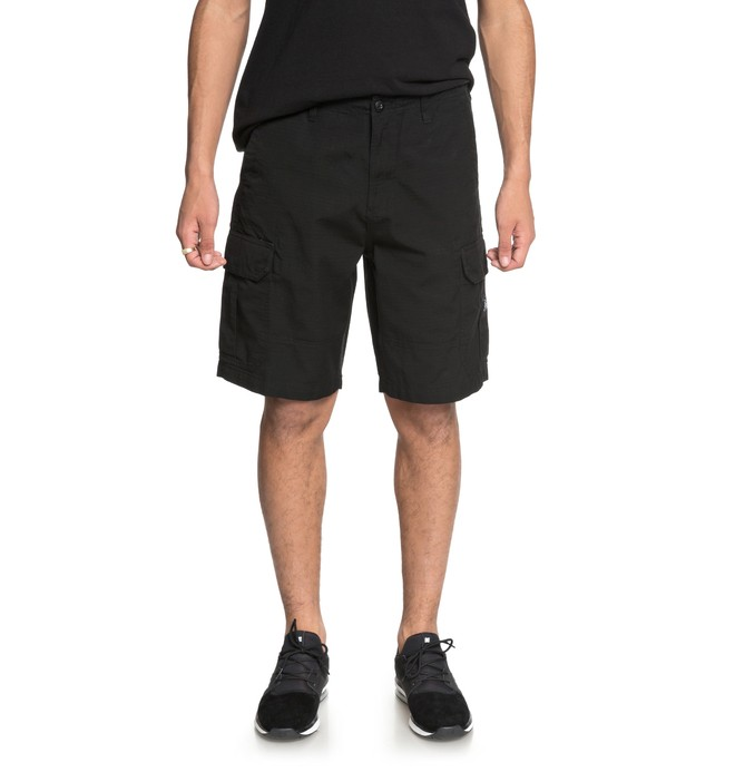 "0 Ripstop 21"" Cargo Shorts Black EDYWS03054 DC Shoes"