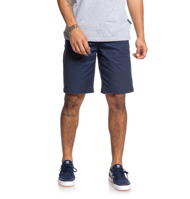 "0 Worker 20.5"" Chino Shorts Blue EDYWS03111 DC Shoes"