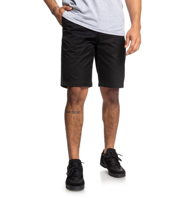 "0 Worker 20.5"" Chino Shorts Black EDYWS03111 DC Shoes"