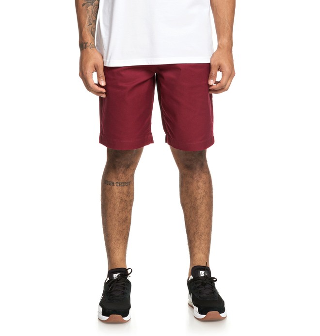 """0 Worker 20.5"""" - Short chino pour Homme Rouge EDYWS03111 DC Shoes"""