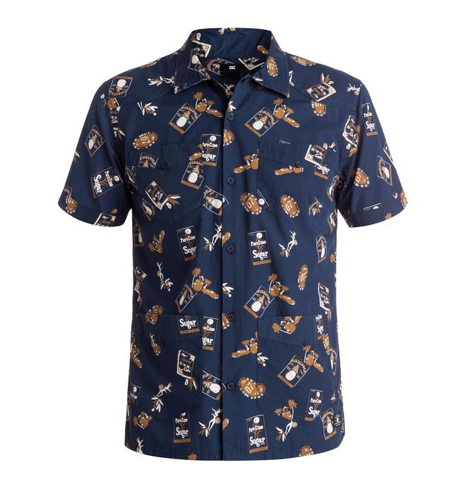 0 Men's Guayabera Short Sleeve Shirt  EDYWT03089 DC Shoes