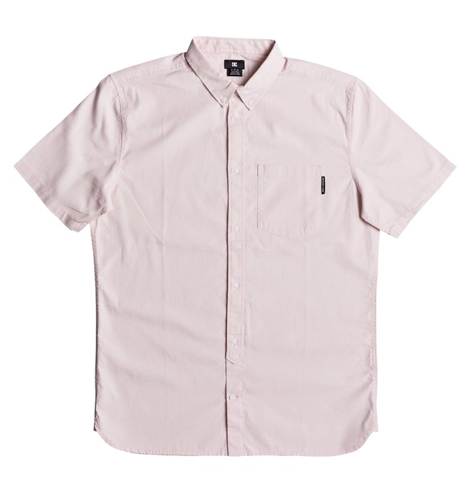0 Classic Oxford Light Short Sleeve Shirt Pink EDYWT03184 DC Shoes
