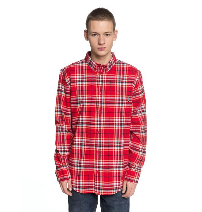 0 South Ferry - Chemise à manches longues pour Homme Rouge EDYWT03187 DC Shoes