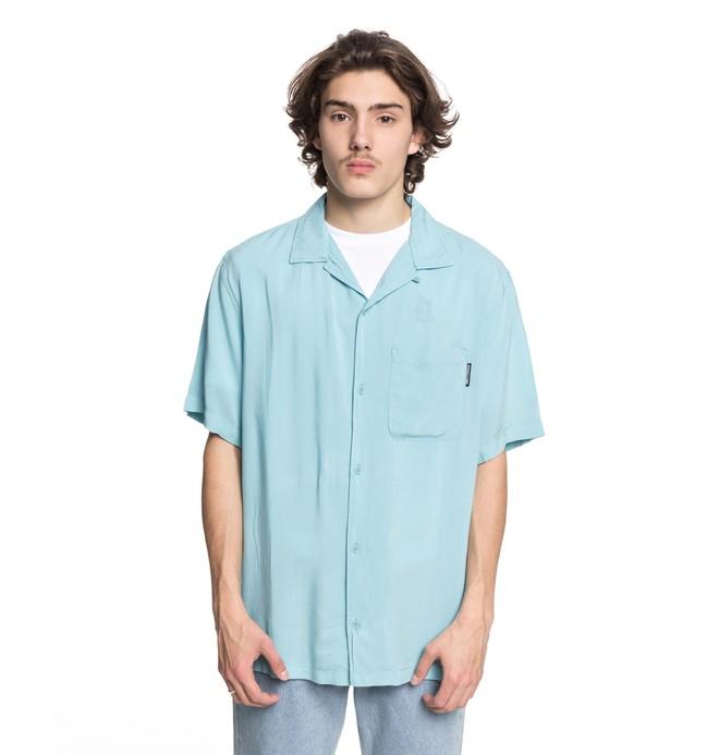 0 Whinney - Chemise col cubain manches courtes pour Homme Bleu EDYWT03189 DC Shoes