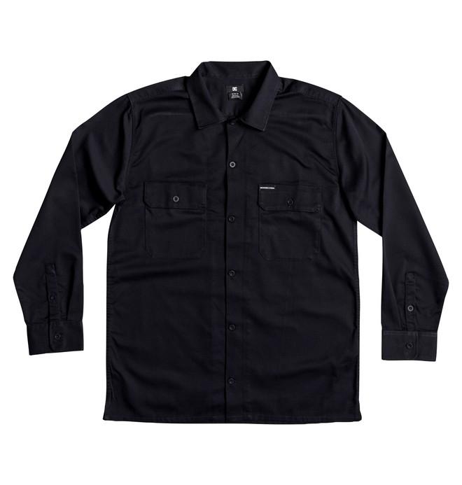 0 Wasdale Long Sleeve Workwear Shirt Blue EDYWT03193 DC Shoes