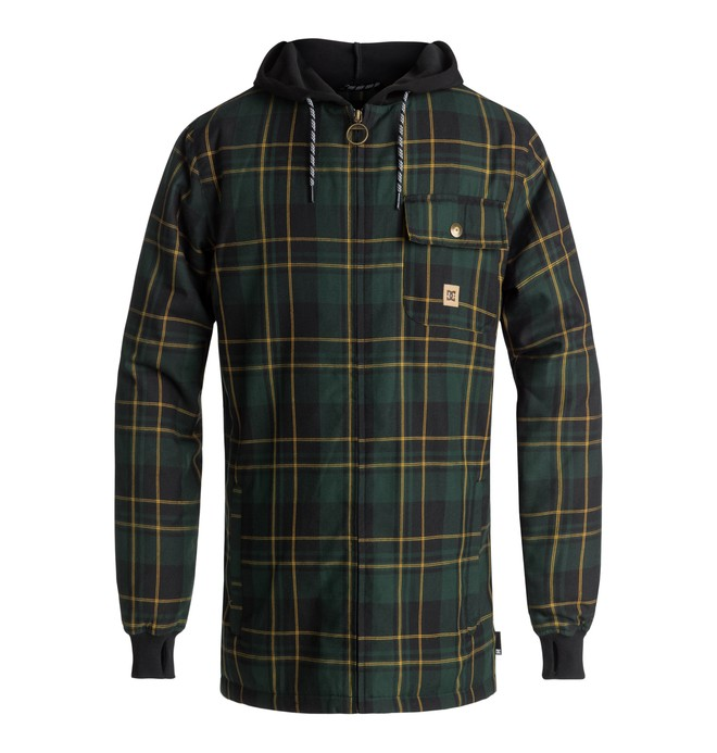 0 Backwoods Technical Zip-Up Hoodie Green EDYWT03199 DC Shoes