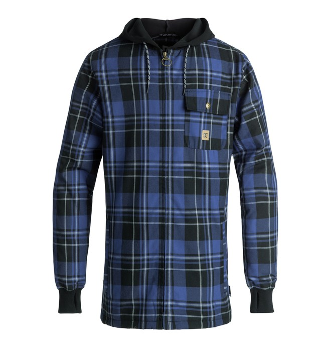 0 Backwoods - Sweat à capuche technique zippé pour Homme Violet EDYWT03199 DC Shoes