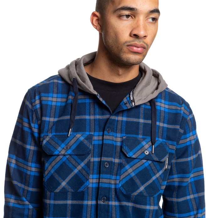 Runnels - Long Sleeve Hooded Flannel Shirt  EDYWT03201