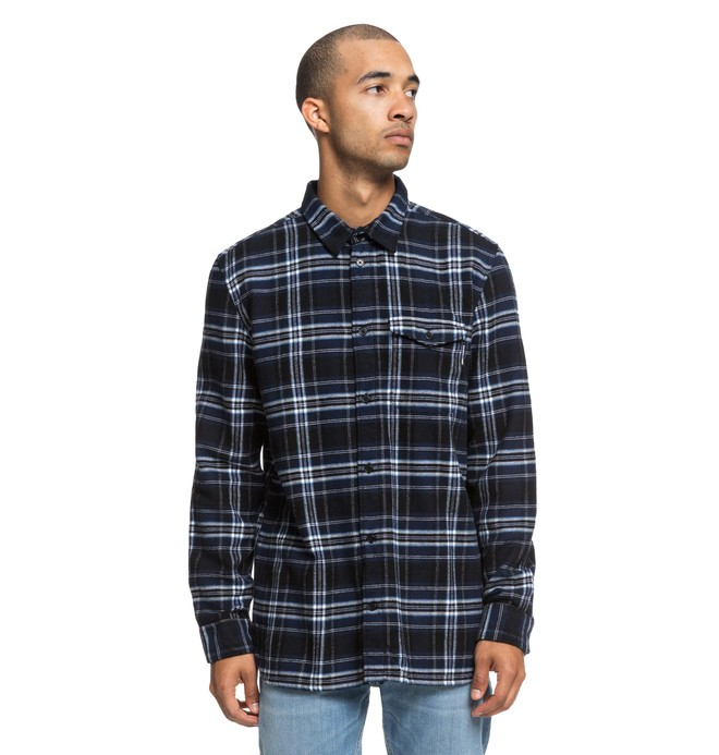 0 Marsha Long Sleeve Flannel Shirt Blue EDYWT03207 DC Shoes