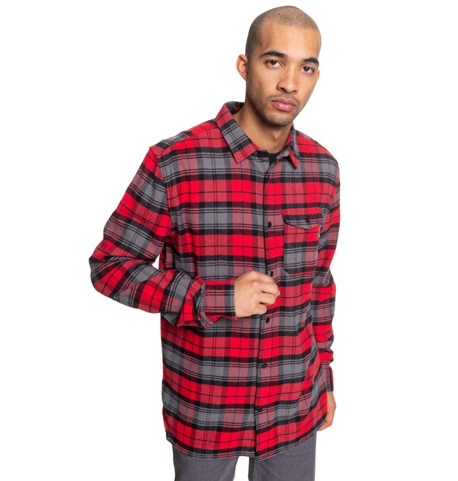 0 Marsha Long Sleeve Flannel Shirt Red EDYWT03207 DC Shoes