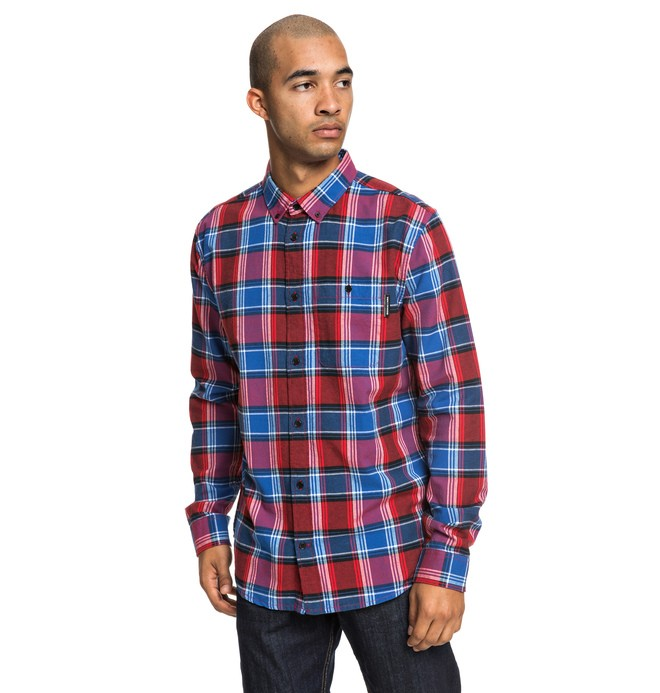 0 Northboat Long Sleeve Shirt Red EDYWT03208 DC Shoes