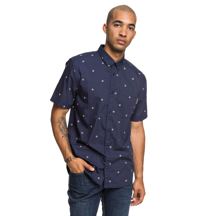 0 Up Pill Short Sleeve Shirt Blue EDYWT03221 DC Shoes