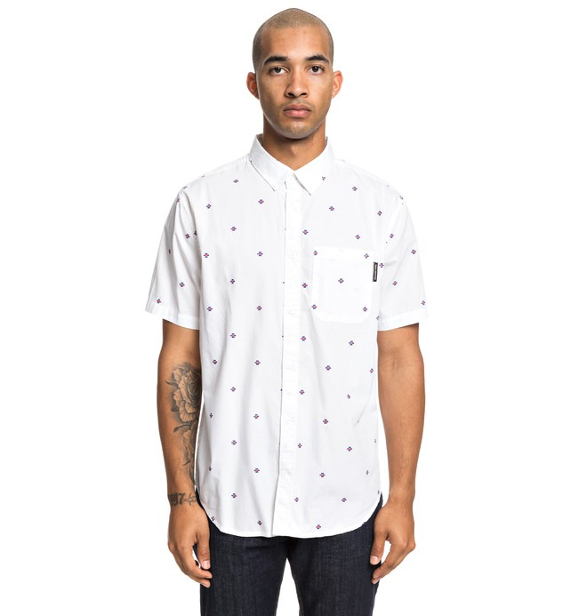 0 Up Pill - Camisa de Manga Corta para Hombre Blanco EDYWT03221 DC Shoes