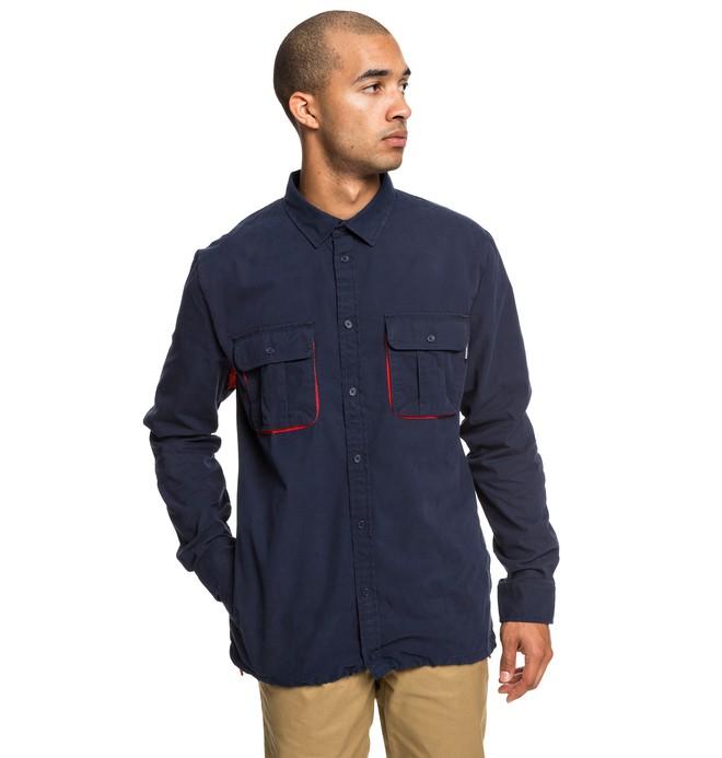 0 Рубашка с длинным рукавом Just Vent Синий EDYWT03222 DC Shoes