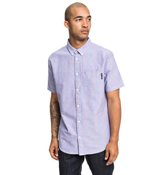 0 Rip Stripe - Camisa de Manga Corta para Hombre Azul EDYWT03223 DC Shoes